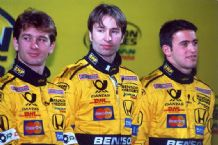 Trulli, Frentzen, Zonta. Jordan EJ10 Launch photo 2001